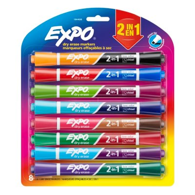 EXPO Low Odor Dry Erase Markers, Chisel Tip