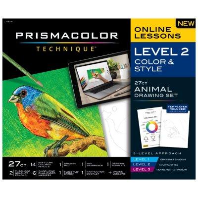 Technique Bird Drawing Art Set, Digital Lessons, Level 2