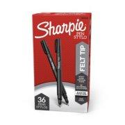 2 black felt tip pens package image number 1