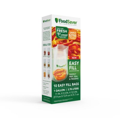 FoodSaver Easy Fill 1 Gallon Vacuum Sealer Bags, 10 Count