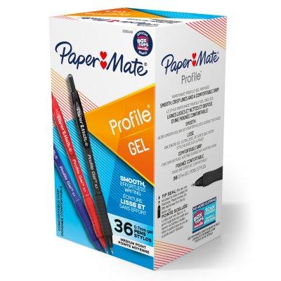 Paper Mate Profile Retractable Gel Pens, Medium Point (0.7mm)