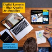 digital lessons and high quality art supplies work at your own pace with online lessons image number 1
