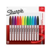 12 fine assorted permanent markers in packaging image number 0
