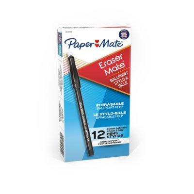 Paper Mate EraserMate Erasable Pens, Medium Point (1.0mm)