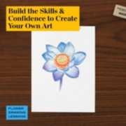 build the skills and confidence to create your own art in flower drawing lessons image number 4