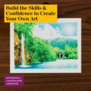 build the skills and confidence to create your own art in waterfall landscape lessons image number 4