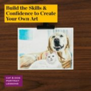 build the skills and confidence to create your own art in cat and dog portrait lessons image number 4