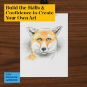 build the skills and confidence to create your own art in fox drawing lessons image number 4