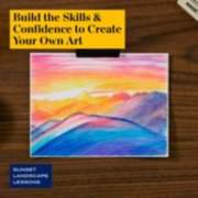 build the skills and confidence to create your own art in sunset landscape lessons image number 4