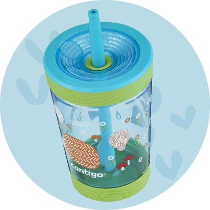 kids reusable water bottle with straw