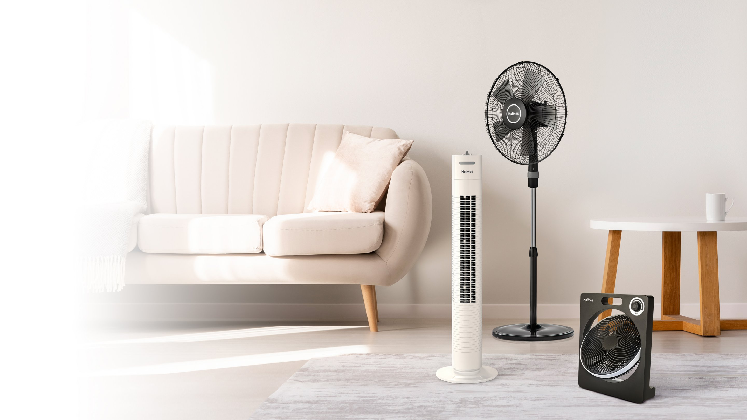 air purifier tower in living room