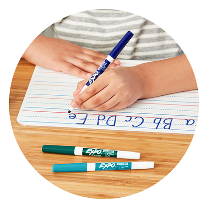 dry erase markers info tile