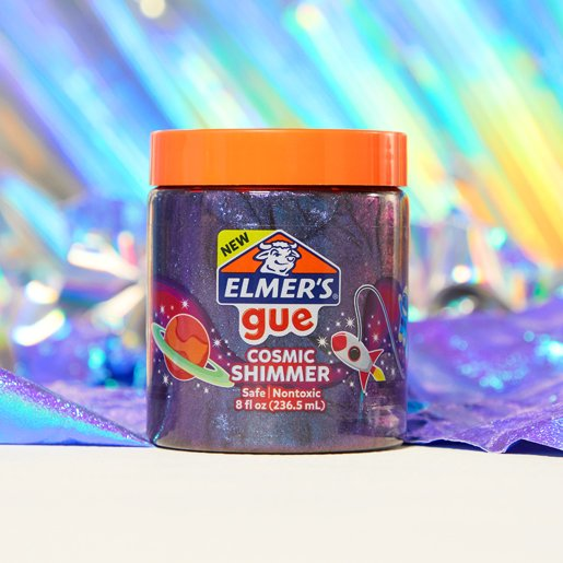 Unscented nontoxic glitter slime