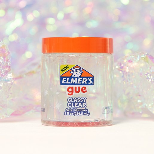 gue premade slime, unscented glassy clear
