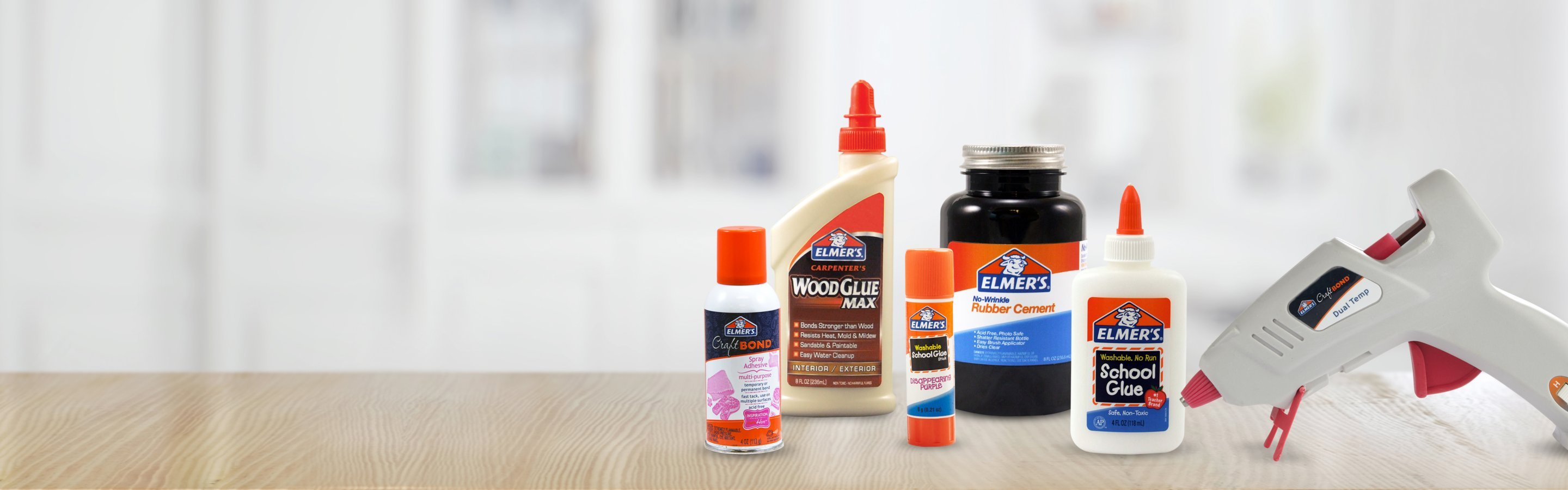 assorted glue products