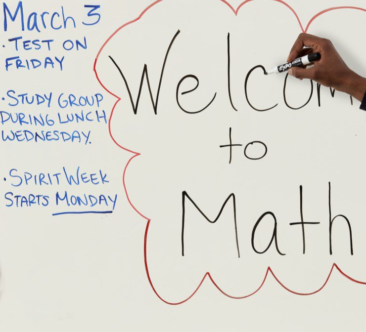 using dry erase markers on white boards