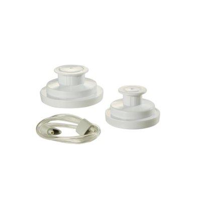 FoodSaver® Jar Sealing Kit with Wide-Mouth Jar Sealer, Regular Jar Sealer, and Accessory Hose, White