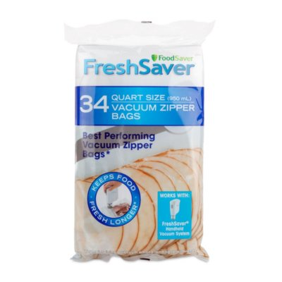 FoodSaver® Vacuum Zipper Quart Bags, 34 Count