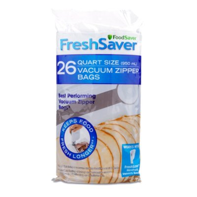 FoodSaver® Vacuum Zipper Quart Bags, 26 Count