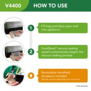 FoodSaver® 2-in-1 Automatic Vacuum Sealing System with Starter Kit, v4440, Black Finish image number 8