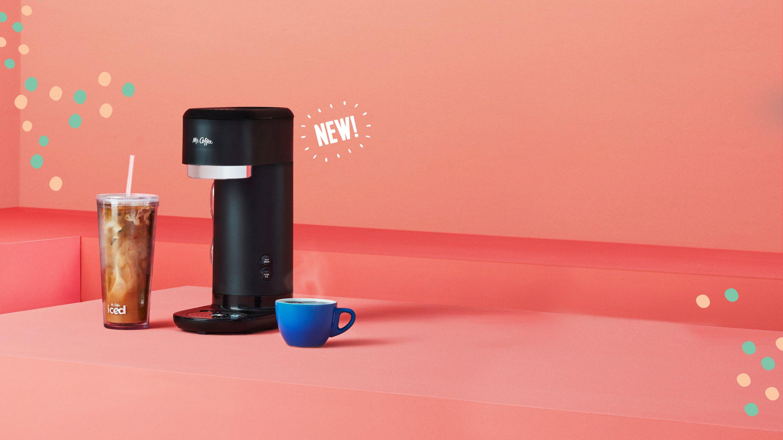 iced and hot coffee machine, new