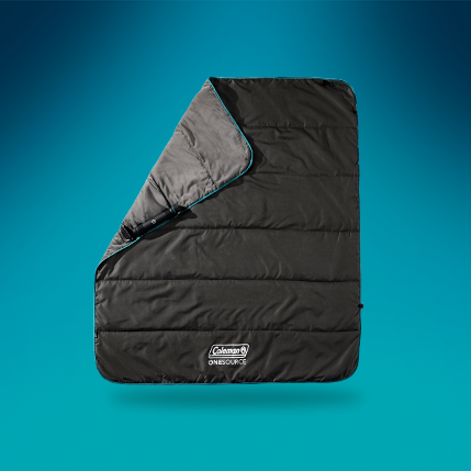 a vertical quilted blanket