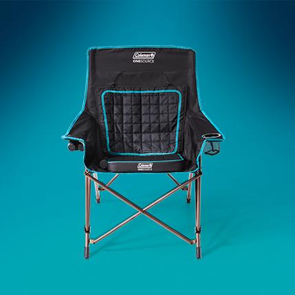 one source heated camp chair