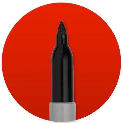 Permanent marker tip