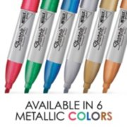metallic permanent markers, available in 6 colors image number 1