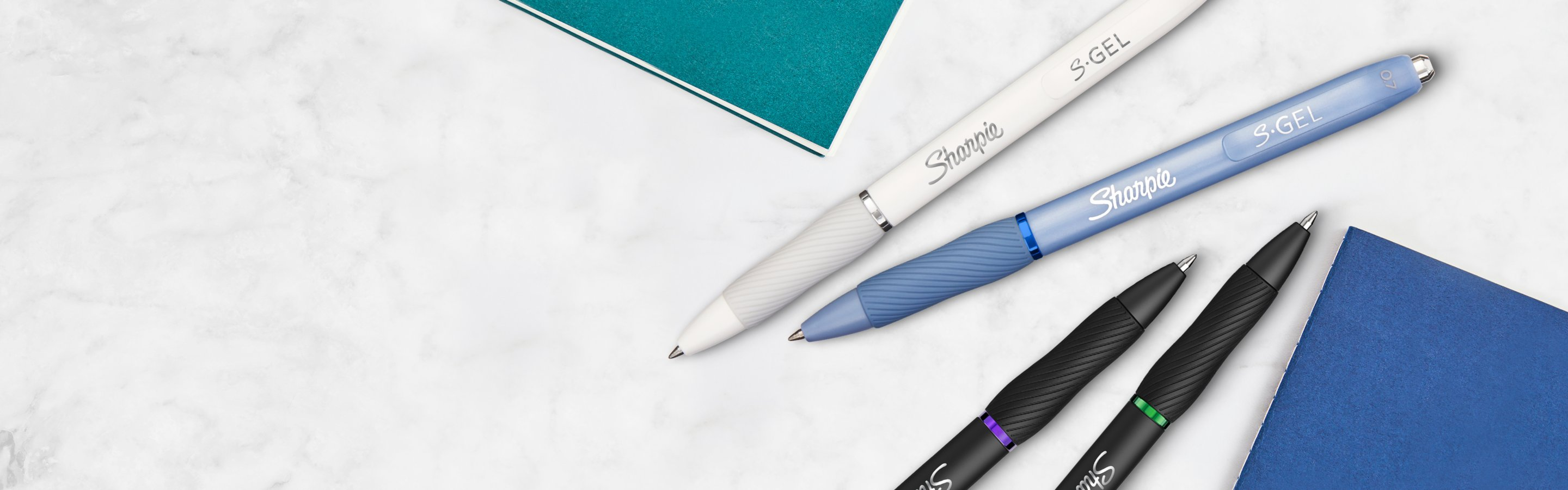 assorted writing pens
