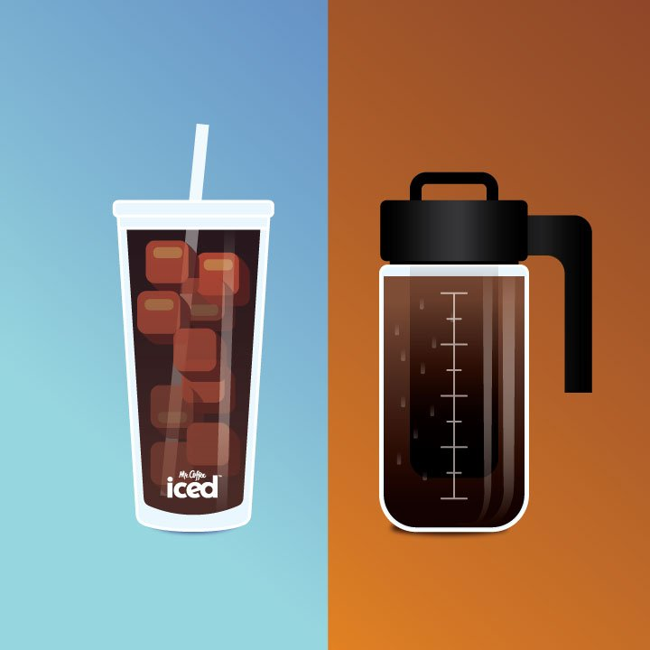 iced vs hot coffee graphic