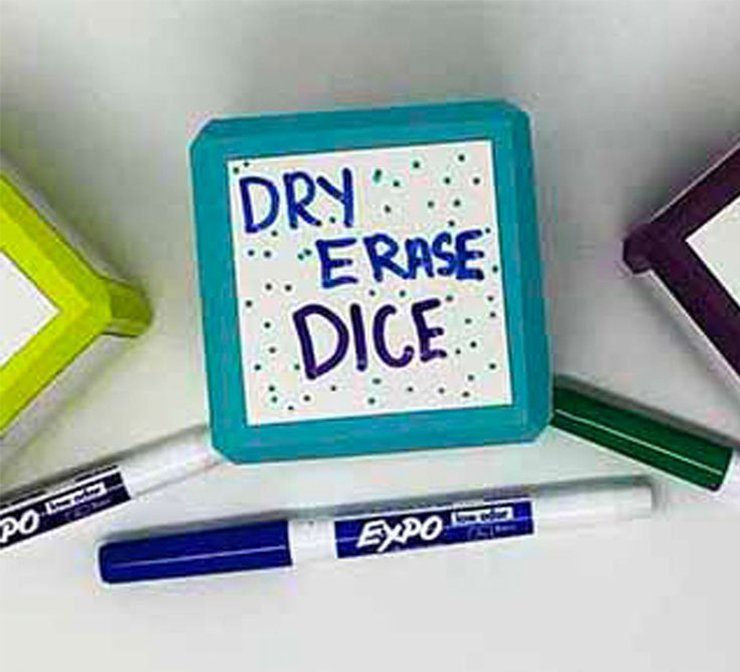 Expo markers dry erase dice
