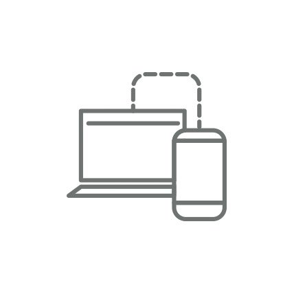 Rendering of a device connected to a laptop computer.