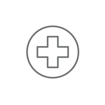 A rendering of a red cross.