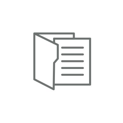 A rendering of a file and paper.