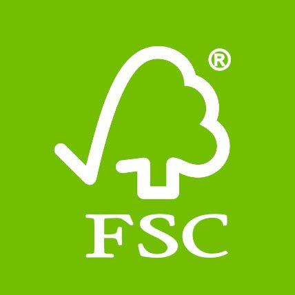 A Forest Stewardship Council logo.