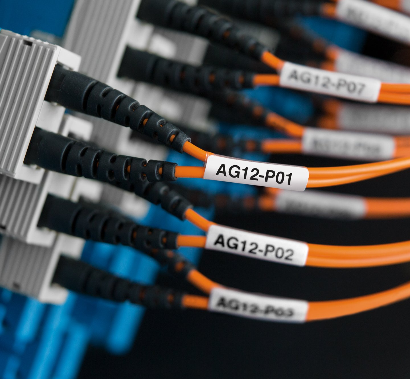 Cable wraps being used on plugged in cables.