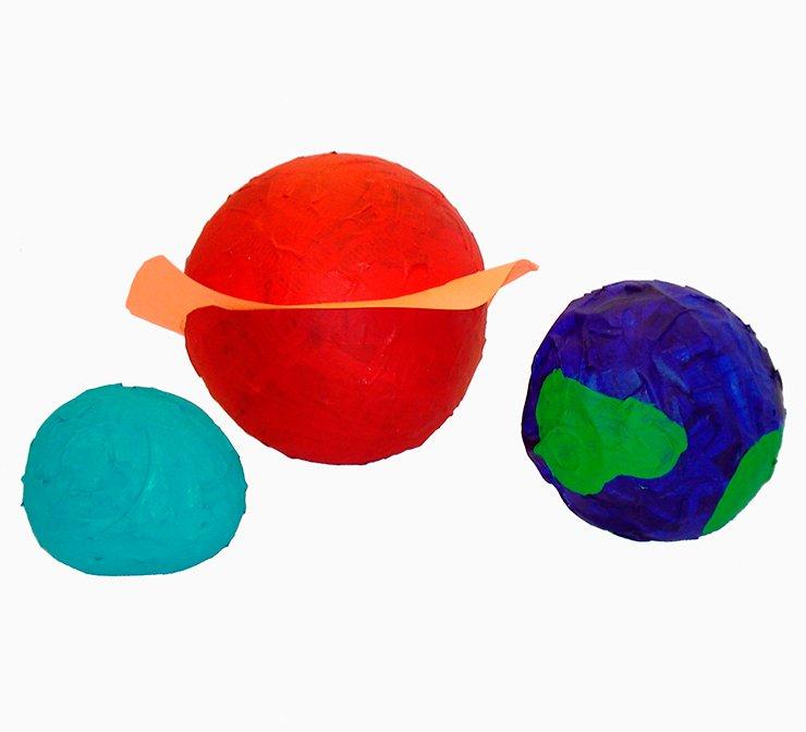 Paper mache planets project