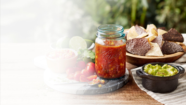 Glass canning jar