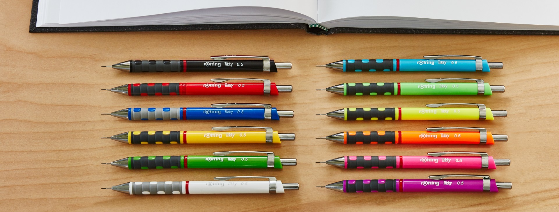 ROTRING TIKKY 3 0.5MM 5 COLOR DRAFTING MECHANICAL PENCIL