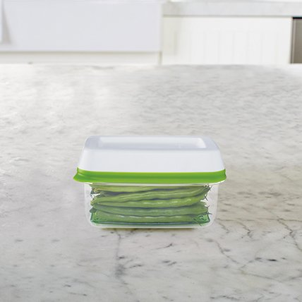 Rubbermaid FreshWorks produce storage container long green beans