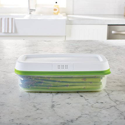 Rubbermaid FreshWorks food storage container asparagus long