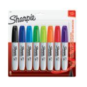 8 assorted color chisel tip sharpie markers image number 0