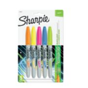 5 count assorted neon sharpie markers image number 0