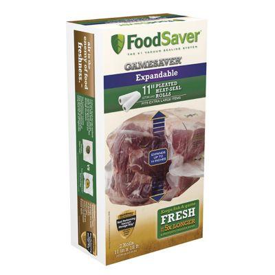 """FoodSaver® GameSaver® 11"""" x 18' Expandable Vacuum-Seal Rolls, 2 Pack"""