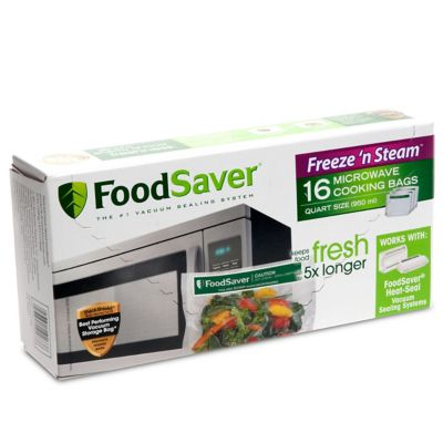 FoodSaver® Freeze 'N Steam™ Microwave Quart Vacuum-Seal Cooking Bags,16 Count