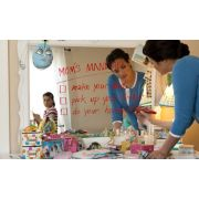 mother writing to do list for daughter on mirror with dry erase marker image number 5