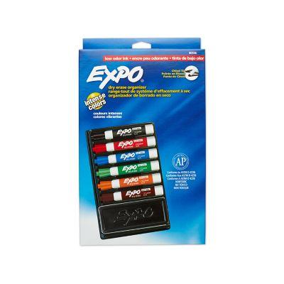 Expo® Low Odor Dry-Erase Organizer Kit, Chisel Tip