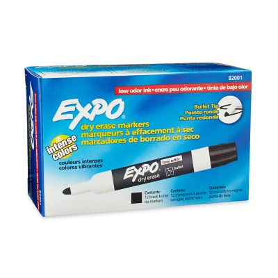 EXPO Low Odor Dry Erase Markers, Bullet Tip