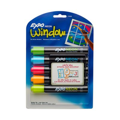 Expo Neon Dry Erase Markers, Bullet Tip